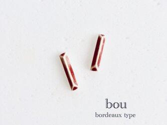 陶bou : ピアス/イヤリング : ボルドーの画像