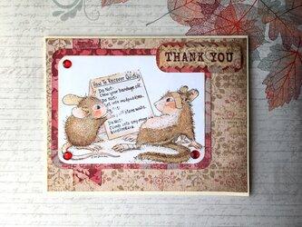 マウスのサンキューカードの画像