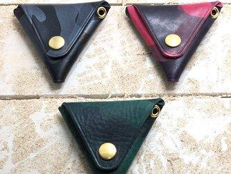カモフラレザー仕様 三角コインケース シリーズ3の画像