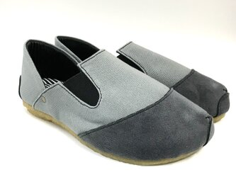 ROUND slip-on sneakers#倉敷帆布 #受注製作の画像