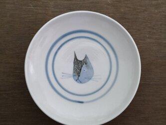 4寸皿(猫)の画像