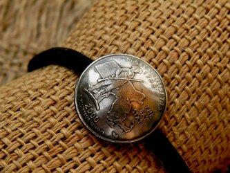 #H113 50State Quarters USA Coin Hair Elasticの画像