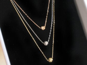 【K10YG CHAIN】K18YG GOLDBALL NECKLACEの画像