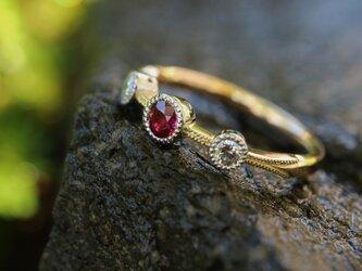 ルビー/ダイヤモンド指輪の画像