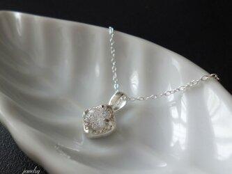 SALE= SQUARE - silver necklaceの画像