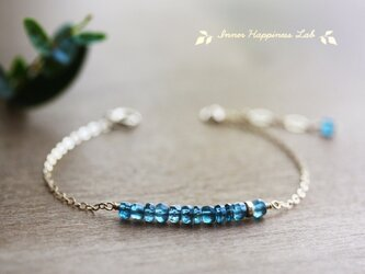 14KGF/ ティールブルーカイヤナイトのブレスレットの画像