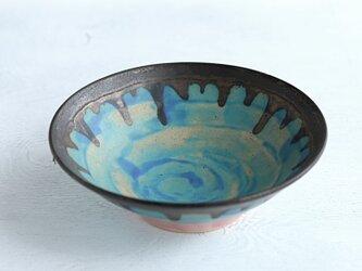 ターコイズブルーとブロンズ釉のbowlの画像