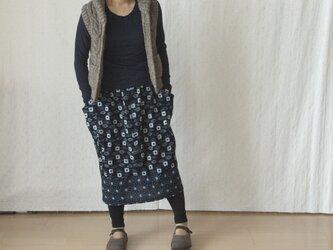 久留米絣のつぼみスカートの画像