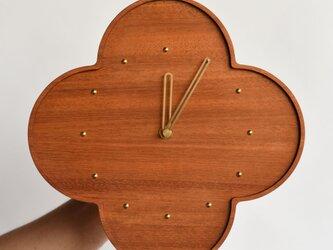 マホガニーの壁掛け時計 大 φ300mmの画像