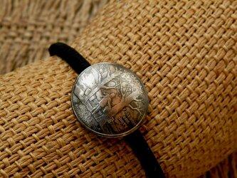 #H114 50State Quarters USA Coin Hair Elasticの画像