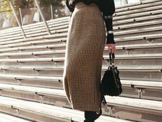 【受注製作】オーダーメイドスカート 上質羊毛ウール 豊富なカラーバリエーション BF390の画像