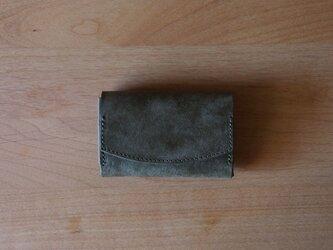 pillow(moss grey) - コインケース/カードケース/名刺入れ(モスグレー)灰緑の画像