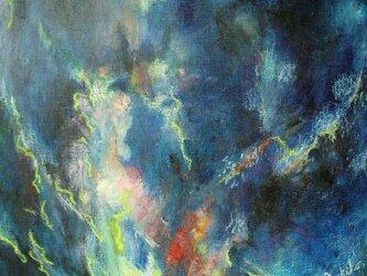 絵画インテリアキャンバス画 油絵 cosmos 誕生 bの画像