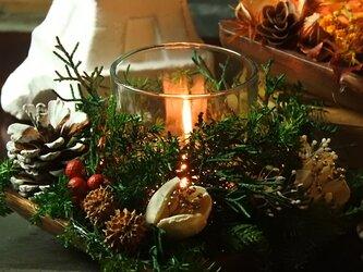 『森のクリスマスキャンドル』◆聖なる夜を灯すアロマ&キャンドルホルダーの画像