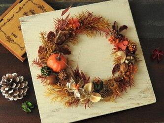 『秋たわわなリース』~大人のハロウィンリース~の画像