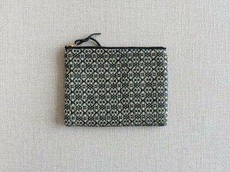 手織りミニポーチ(Accessory case 14cm Black Flower)の画像