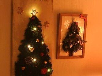 【早期割引】Antique・Xmas★壁掛けのイルミネーション・クリスマスツリー~の画像