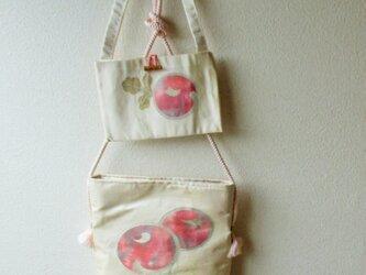 帯バッグ 大小ペア 菊のつぼみの画像