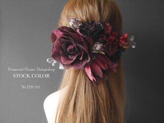 バーガンディーローズのヘッドドレス/ヘアアクセサリー(ナチュラルホワイト)*結婚式・成人式・ウェディングドレスにの画像