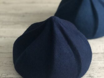 whip beret/藍染/indigoの画像
