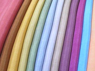 (Y)正絹 胴裏 手染め羽二重12枚 はぎれセット 秋色・大人色 つまみ細工用布・吊るし飾りにの画像