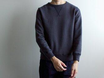 dry fleecy fabric/sweatshirt/charcoal grayの画像