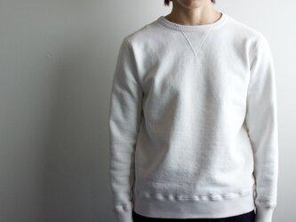 dry fleecy fabric/sweatshirt/whiteの画像