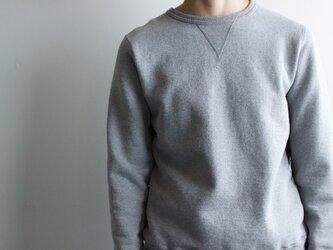 dry fleecy fabric/sweatshirt/heather grayの画像