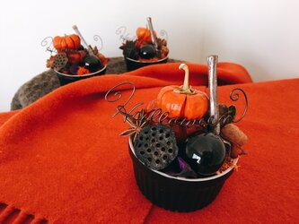 ブラックココット Halloween アレンジメントの画像