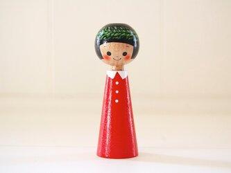 [conocokeshi]指人形・hand puppet[58]葉っぱの冠の画像