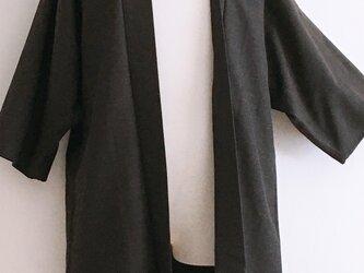 送料無料!!ドルマンスリーブ 男女兼用 モードガウン 焦茶 羽織コートの画像