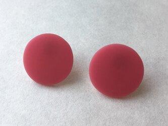 シングルカラーマット(ピンク)サージカルステンレスピアスの画像
