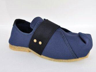 SQUARE band-sneakers #倉敷帆布 #受注製作 #天然素材の画像