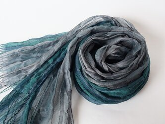 手織りシルクストール【淡月*03】の画像