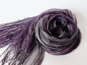 手織りシルクストール【淡月*04】の画像