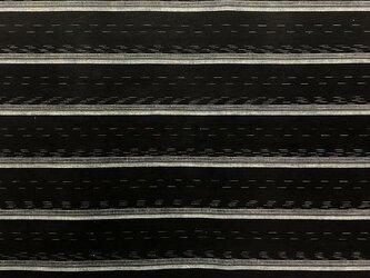 10古布・古裂 縞文様☆野良着の解き 一幅130cm☆しっかりした厚手木綿☆の画像