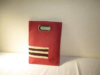 帯バッグ クラッチパステルの画像