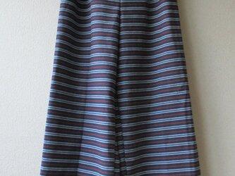 ワイドパンツ 三河縞ブルーの画像