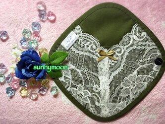 【限定カラー☆】sunnymoon☆ランジェリータイプの布なぷライナー「fairyオリーブ」の画像