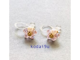 小さなお花の樹脂ノンホ-ルピアス*ロザリンの画像