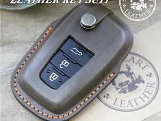 RAV4 50系プリウス C-HR 等 トヨタ車用 本革 キーケース【レザースーツ】の画像