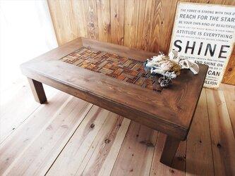 モザイクタイルテーブル/ローテーブル/リビングテーブル/センターテーブルの画像