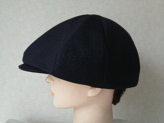 魅せる帽子☆メンズライクのハンチング~ブラックの画像