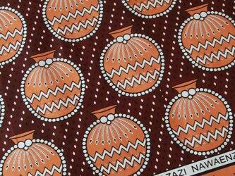 アフリカ布『カンガ』マルーン 壺の画像