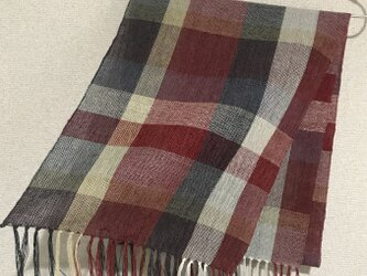 手織りストール A33の画像