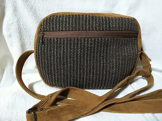 D-2・男性用裂き織りショルダーバッグの画像