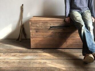 数量限定 M-BOX 収納 ボックス 椅子 ベンチ チェアー キャスター 収納箱 古材 木箱 テーブル ウッドボックスの画像