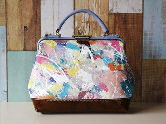 ✴︎26日まで特別価格‼︎✴︎ 世界に一つだ~け~の鞄♪✧✦ハンドペイント✦✧ ドクターバッグ【フルーツ・パーラー】の画像