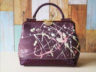 ✴︎26日まで特別価格‼︎✴︎ 世界に一つだ~け~の鞄♪✧✦ハンドペイント✦✧ ドクターバッグ【ボルドーネ】の画像