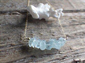 Raw Aquamarine Necklace*14kgf*の画像